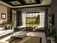 living room scene max