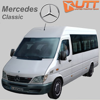3d mercedes-benz sprinter classic bus model