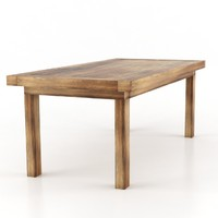 maya mudo concept old dining table