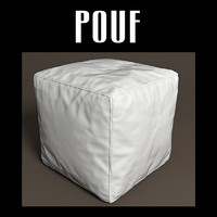pouf interiors fbx