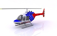 helicopter bell 206 3d 3ds