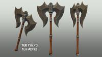 handed axe 02 3d model