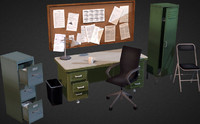 3d model office interior props