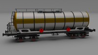 tanker train car 3d obj