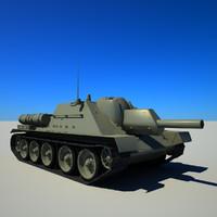 3dsmax soviet tank su-122
