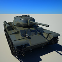 soviet tank kv-1s 3d model