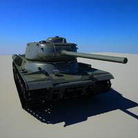 is-1 soviet tank 3d 3ds