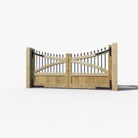 oak gates 3d model