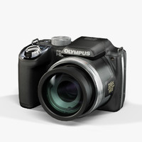 low-poly olympus sp-720uz black 3d max