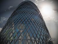 skyscraper modular mentalray 3d model