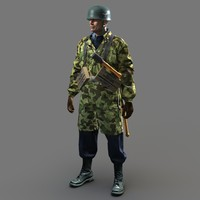 soldier ww2 german fallschirmjager 3d max