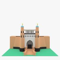3d max ark buchara fortress