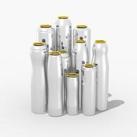 minium cans 3d model