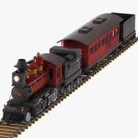 3d cartoon train car model