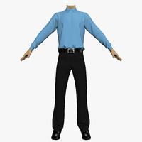 3dsmax shirt trousers