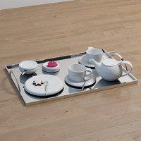 3d coffee set