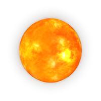 3d sun model