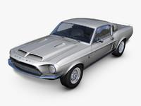 shelby gt500kr 3d model