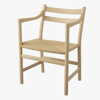 3d chair hans j wegner