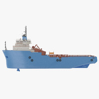 platform supply vessel 3d max