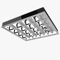 3d office ceiling light model