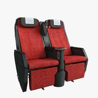 3d model jal seat premium