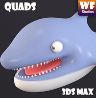 3d s cartoon dolphin