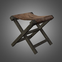 3d primitive old chair