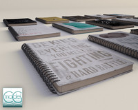 notebook book 3d model