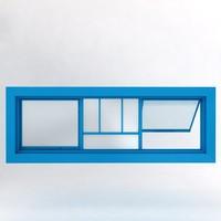 3d model window scene