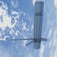 orbital space station 3d model