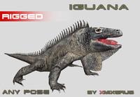 maya iguana rigged