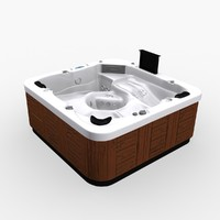 3d model of pool whirlpool