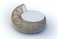 3d model spiral rattan sofa