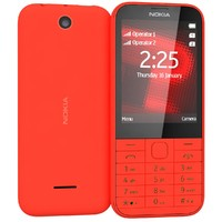 3d nokia 225 red model