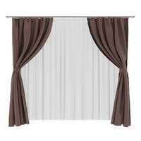 3d brown white curtains