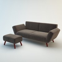 3d model of dr op sofa