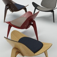 3d hans wegner table model