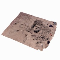 3d photogrammetry scanned beach sand