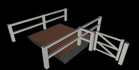 cotswold style cattle grid 3d model