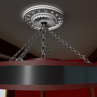 decorative ceiling medallion 3d max