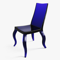 free glass chair 3d model