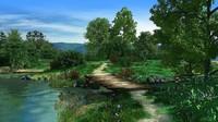 3d model scenic bridge