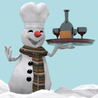 3ds max cartoon snowman