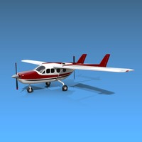 3d cessna skymaster aircraft model