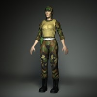 military soldier 3d model