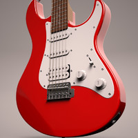 3d yamaha pacifica pac electric guitar model