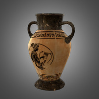 ready amphora pot 3d obj