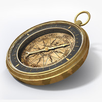 vintage antique compass 3d model