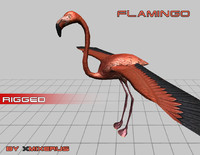 flamingo rigged 3ds